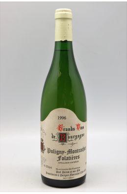 Paul Pernot Puligny Montrachet 1er cru Clos des Folatières 1996