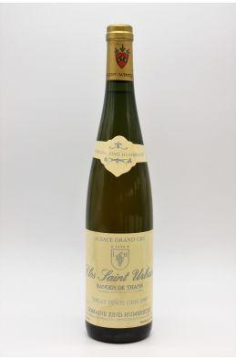 Zind Humbrecht Alsace Grand Cru Pinot Gris Rangen de Thann Clos Saint Urbain 1989